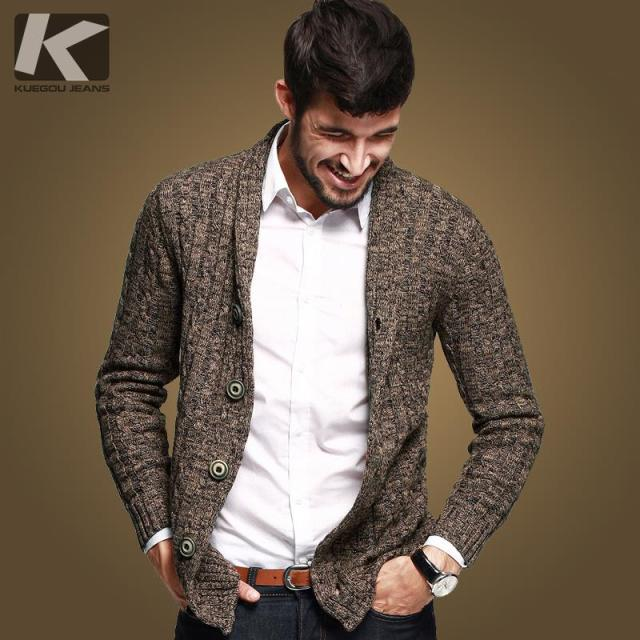 2015 fashion autumn Mens sweaters male V neck winter Cardigan men ...
