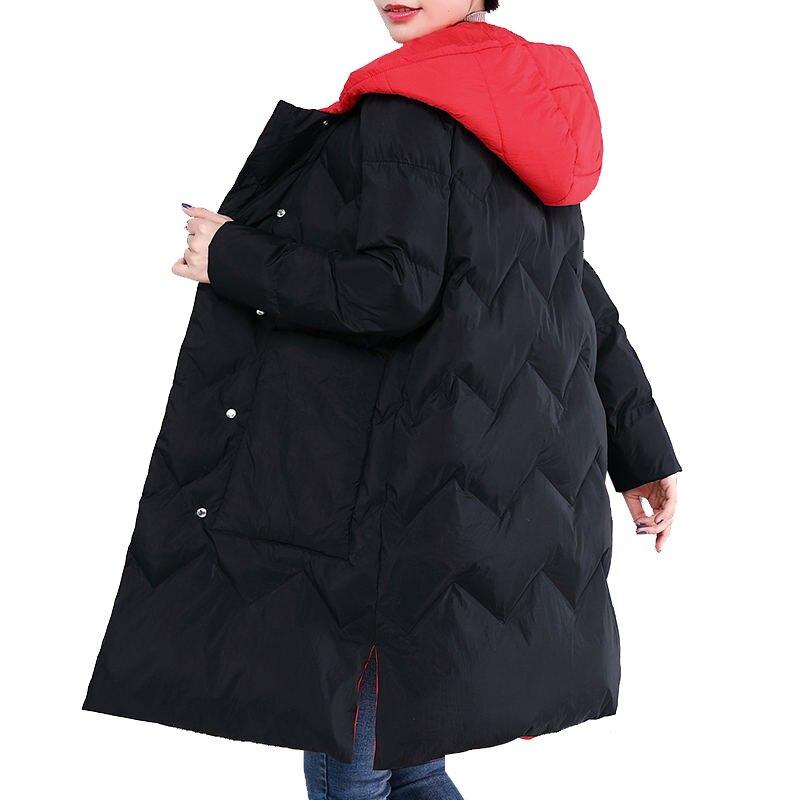 Plus la Taille 3XL 4XL Veste D'hiver Femmes Manteau Parka À Capuche Chaud Épaississent Veste de Survêtement Chaqueta Mujer Longue Veste Manteau Femmes q945