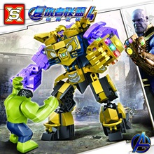 Legoinglys Thanos Energy Stones Gloves Building Blocks Avengers 3 New Infinity War Hulk Block Marvel Figures Kids Toys Gift avengers 3 infinity war action figure black panther thanos hulk gamora building blocks compatible with legoinglys marvel toys