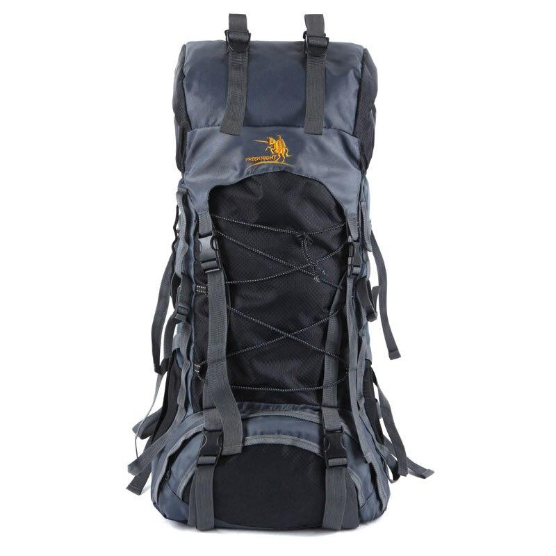 Sacs de voyage 60L grand sac à dos d'alpinisme professionnel hommes sacs à dos de voyage marque célèbre sac à dos en Nylon sacs à bagages