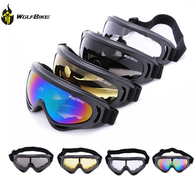 6639858e23b WOLFBIKE X400 UV Protection Outdoor Sports Ski Snowboard Skate Goggles  Motorcycle Off-Road Cycling Goggle Glasses Eyewear Lens