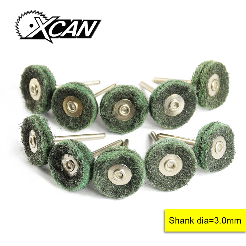 XCAN 10pcs Fiberglass Flat Wheel Brush For Dremel Rotray Tools