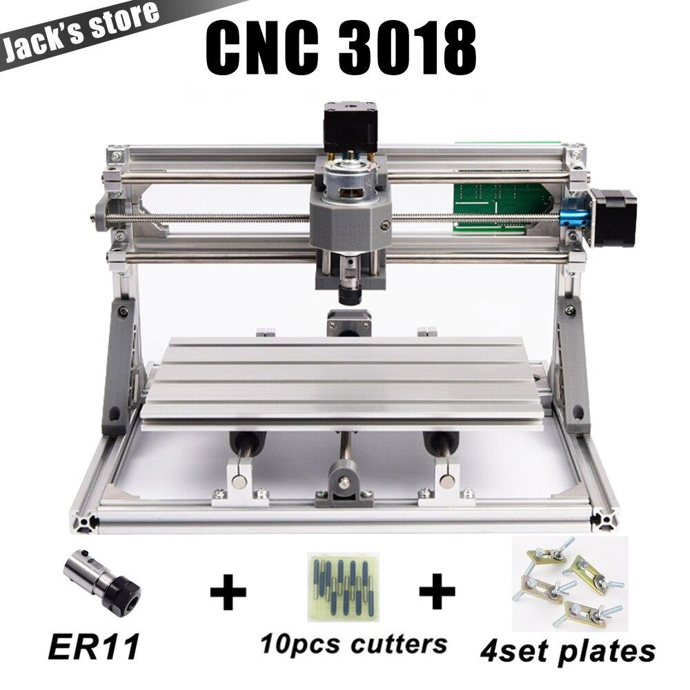 CNC3018 con ER11, diy cnc máquina de grabado, fresado de Pcb, máquina que talla de madera, ranurador del cnc, cnc 3018 GRBL, juguetes avanzados
