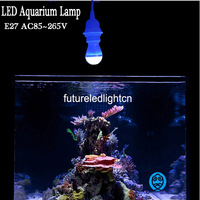 E27 AC85 265V LED Aquarium Lamps Provide Fish Tank Illumination And Water Plants Grow Bulbs Blue