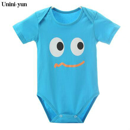 Unini-yunWholesale 2017 Autumn Cotton baby boys girls clothes set short-sleeve laugh Newborn baby Romper jumpsuit roupas de bebe