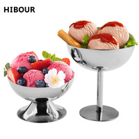 Hibour Stainless Steel Ice Cream Cup Durable Children Dessert Bowl For Kids Couples Lovely Gift Birthday