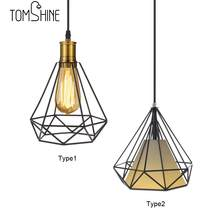 Iron Diamond Wrought Ceiling Lamp 0-60W Vintage Cage Light Restaurant Bedroom Night Light Indoor Demands Decorations Arts Lamp(China)