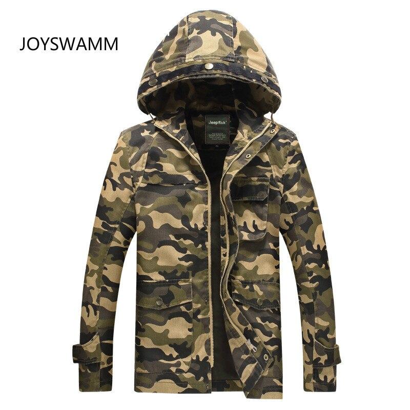 Autumn Men Camouflage Tactical Jacket Military Jacket Multi pocket Hooded Jacket Europe Classic Male Army Clothing