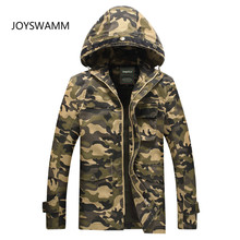 Autumn Men Camouflage Tactical Jacket Military Jacket Multi-pocket Hooded Jacket  Europe Classic Male Army Clothing
