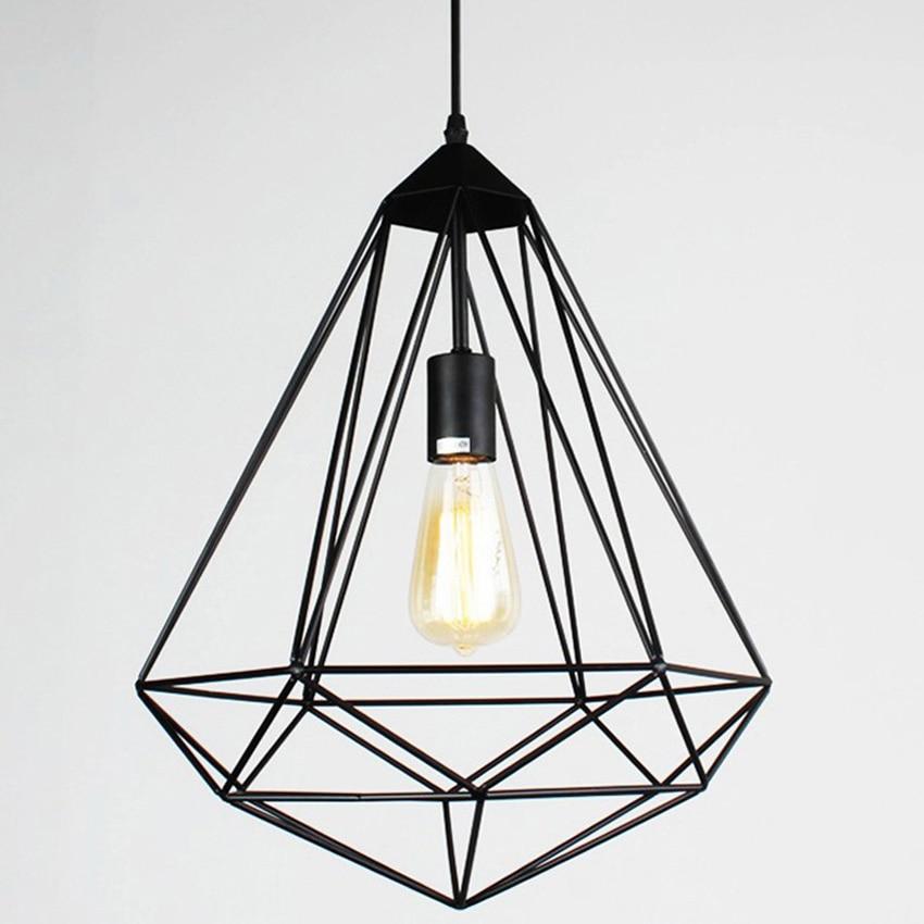 Vintage Diamonds Shape Industrial Pendant Lamp 4 Kinds