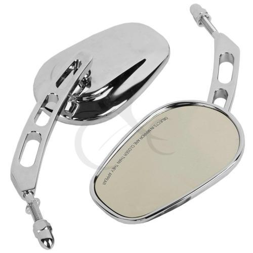 Chrome Rear View Side Mirrors Fit Harley Dyna Sportster Touring XL 883 Cruiser
