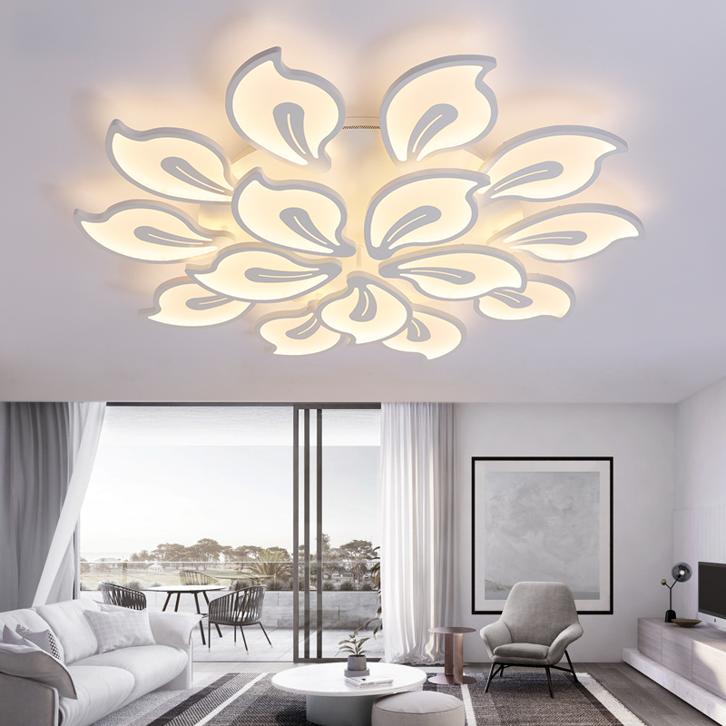 Modern creative ceiling lamp living room bedroom dining Study room light Acrylic led Chandelier lamp fixtures Dimming Home Decor new modern led chandeliers for living room bedroom dining room acrylic iron body indoor home chandelier lamp lighting fixtures