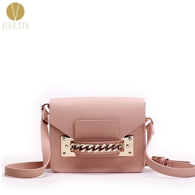 GENUINE LEATHER CHAIN MINI ENVELOPE BAG Women Female New Brand Fashion Cute Small Shoulder Clutch Crossbody Bag Purse Handbag
