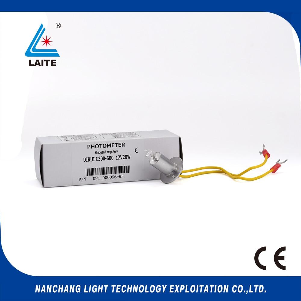Dirui 12V 20W biochemical analyzer halogen lamp 12V20W spare free shipping-3pcs аккумуляторная дрель шуруповерт metabo bs 18 ltx bl i 602350650