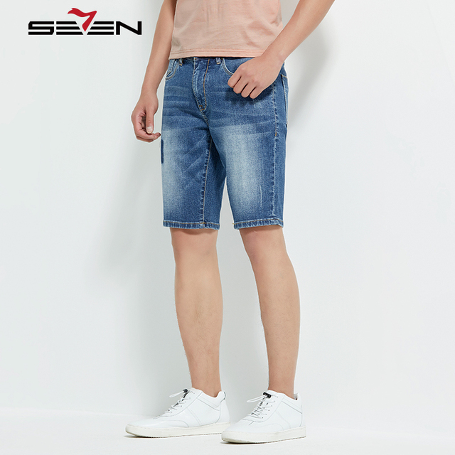 Seven7 Brand Jeans Denim Shorts Mens Stretch Hip Hop Jeans Slim Designer Pants For Men Biker Skinny Trousers Plus Size 114S80030