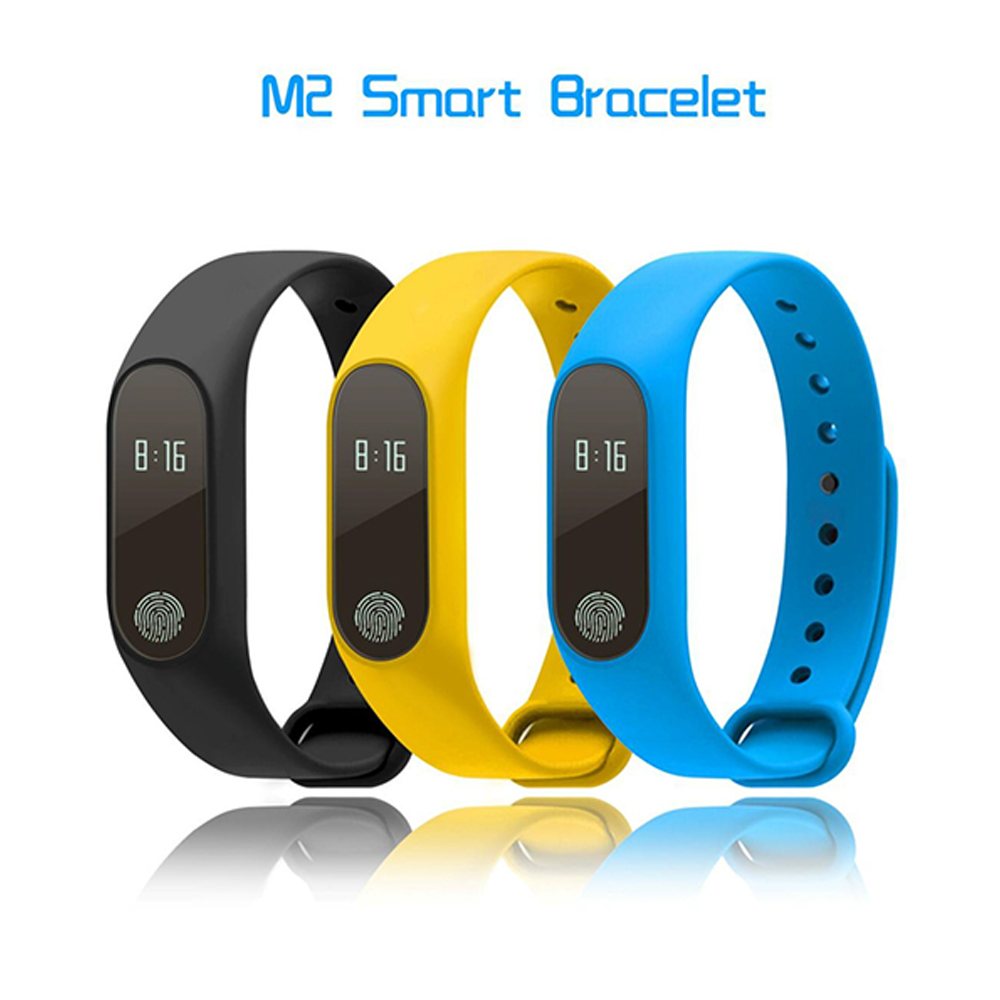 Hangrui New M2 Smart Watch Band Messges Reminder Bluetooth Smart Bracelet Fitness Sleep Tracker Wristband for Android IOS phone