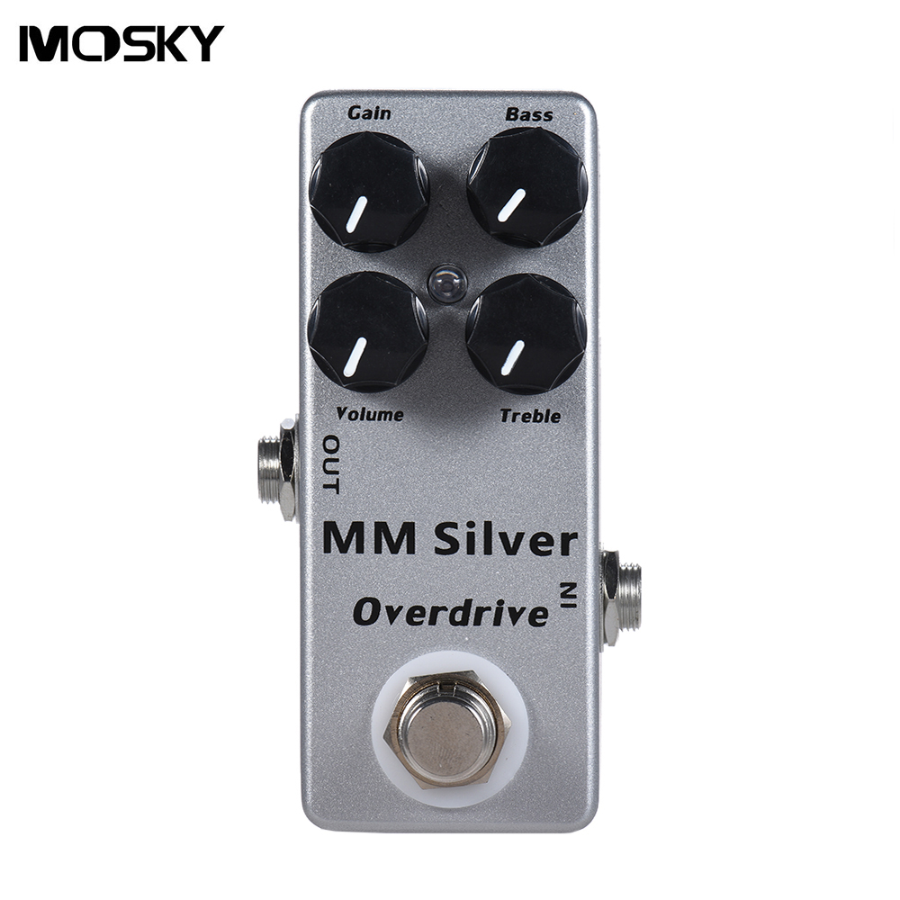 Mosky MM Overdrive Electric Guitar Effect Pedal with 4 Functional Knobs (Gain/Volume/Bass/Treble) and True Bypass mooer leveline volume pedal electric guitar bass effect pedal wvp1 with free connector and footswitch topper