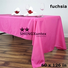 Fuchsia Color Wedding Table Cloth \Polyester Tablecloth Nice Looking