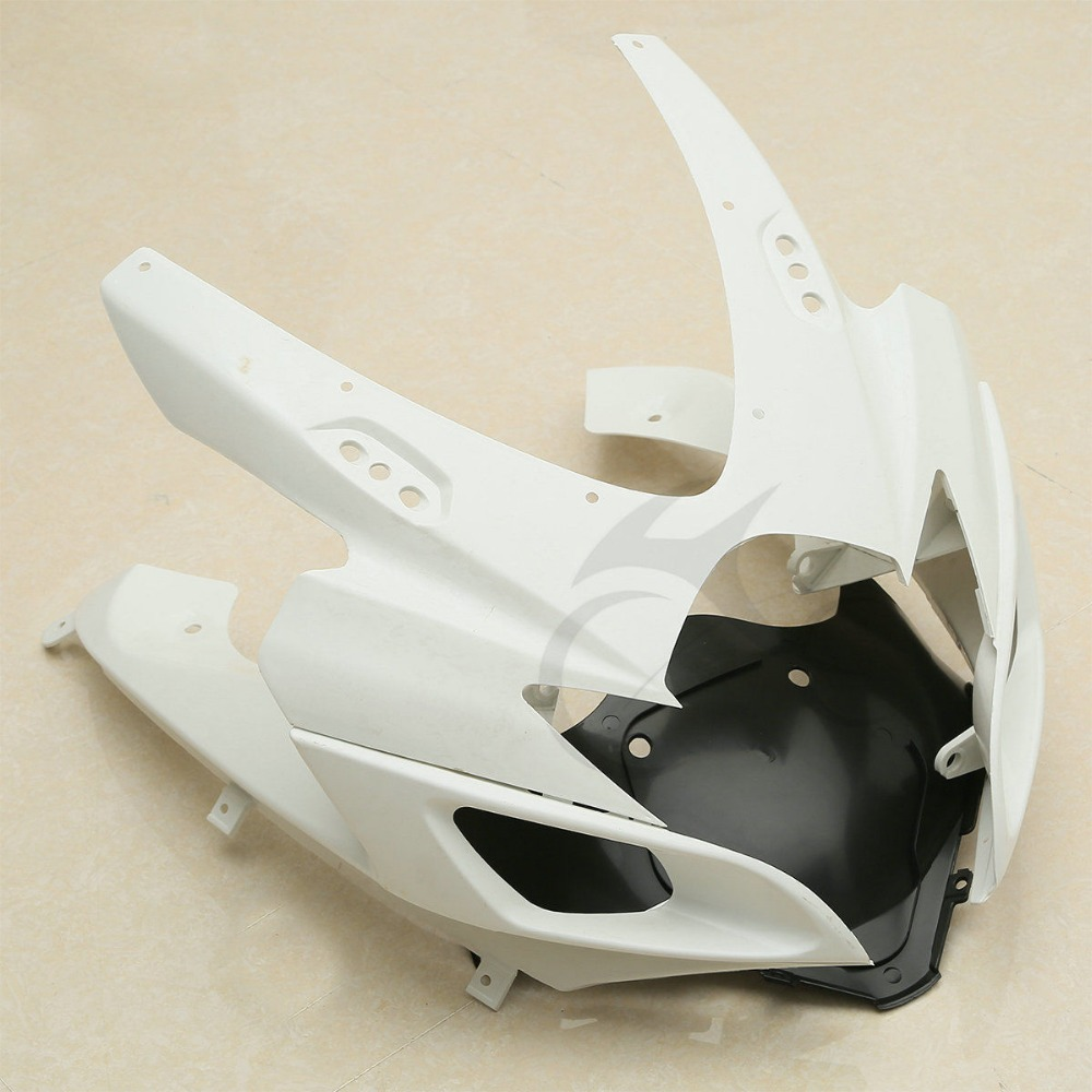 Front Upper Plastic Fairing Cowl Nose For Suzuki GSXR600 GSXR750 2006 2007 K6 new motorcycle ram air intake tube duct for suzuki gsxr600 gsxr750 2006 2007 k6 abs plastic black
