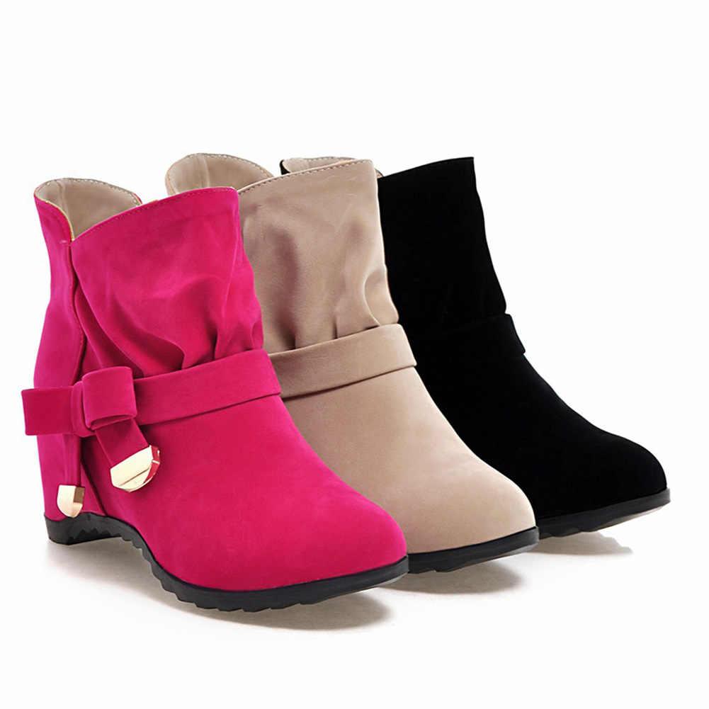 KarinLuna 2018 toptan büyük boy 34-43 en kaliteli kış kadın yarım çizmeler moda eğlence kadın ayakkabısı patik