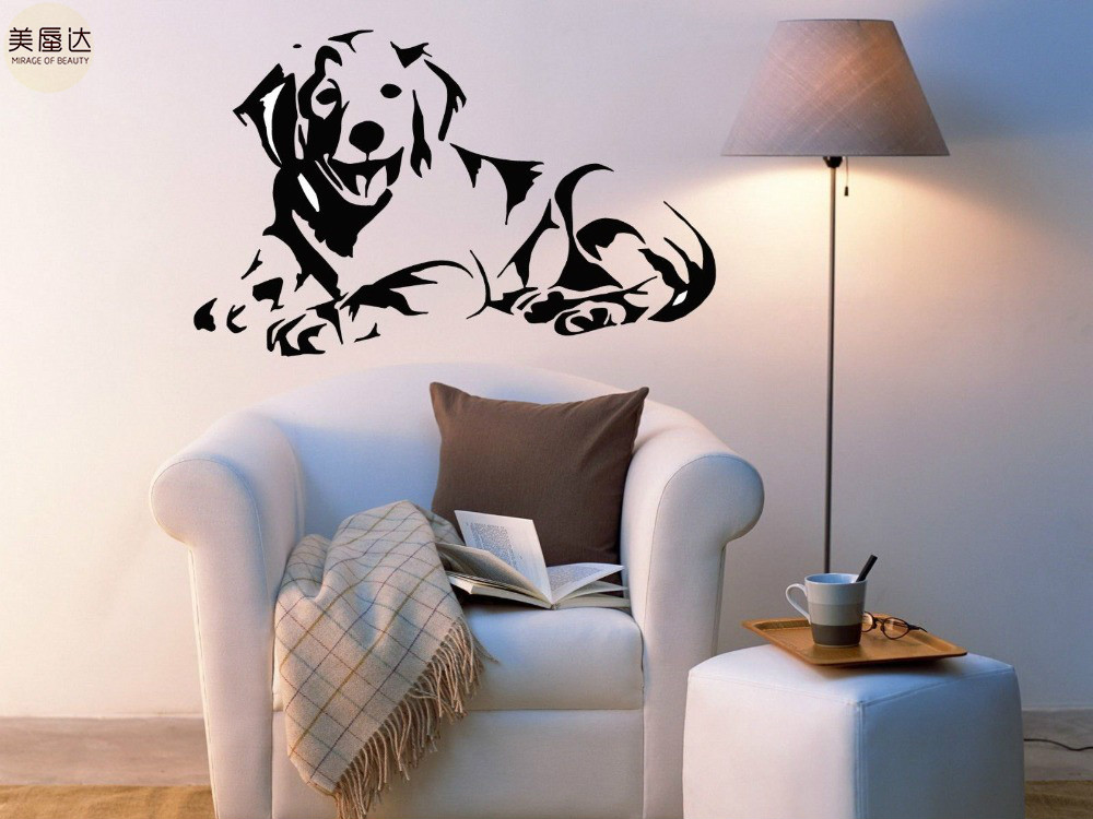 Golden Retriever Dog Puppy Breed Pet Animal Family Wall Sticker Decal Mural image