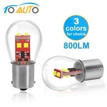 BAU15S PY21W BA15D 1157 BAY15D P21/Светодиодная лампа мощностью 5 Вт с P21W BA15S 1156 R5W Автомобильные светодиодные лампы сигнальные лампы авто белого цвета-красный, желтый, 12V