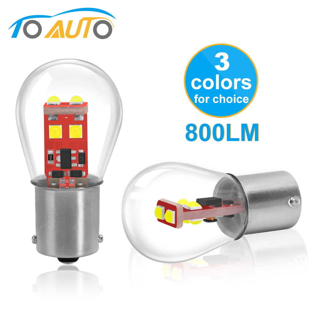 BAU15S PY21W BA15D 1157 BAY15D P21/5W <font><b>LED</b></font> <font><b>P21W</b></font> BA15S 1156 R5W Car <font><b>LED</b></font> Lights Lamp Turn Signal Bulbs Auto <font><b>White</b></font> Red Amber 12V image