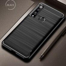 Dla Huawei P30 Lite obudowa z włókna węglowego odporna na wstrząsy obudowa telefonu dla Huawei P40 Lite E/P 30 Pro pokrywa trwała Flex zderzak dom