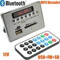 12 В СВЕТОДИОДНЫЕ Автомобиля Bluetooth для Беспроводной MP3 Плата Декодера Аудио Модуль USB SD FM Радио Бесплатная Доставка с Номером Следа 12003139