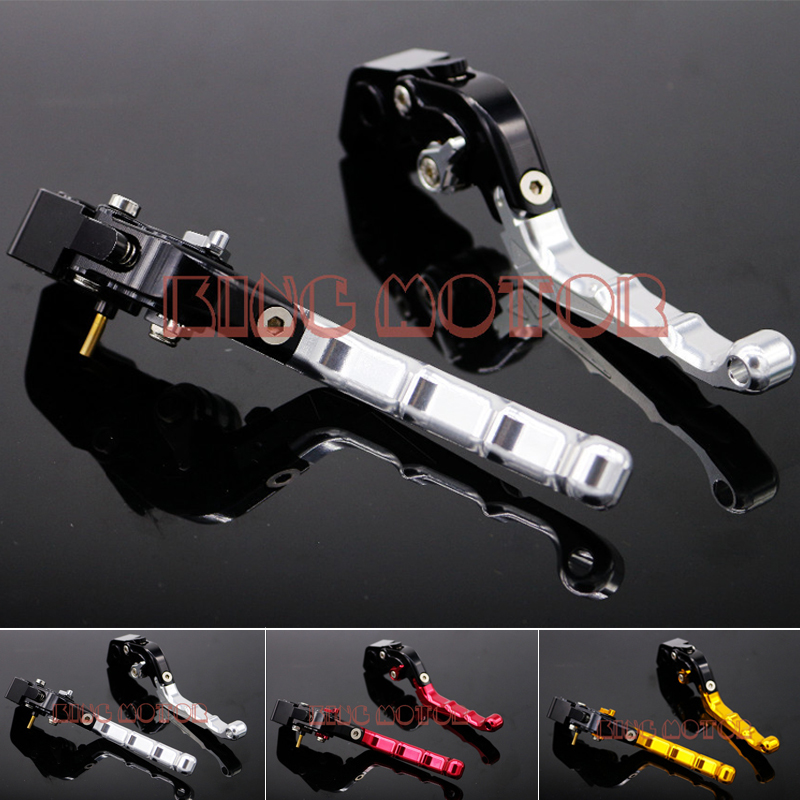 ФОТО For DUCATI Monster 695 659 696 796 Motorcycle Accessories Adjustable Folding Brake Clutch Levers Silver