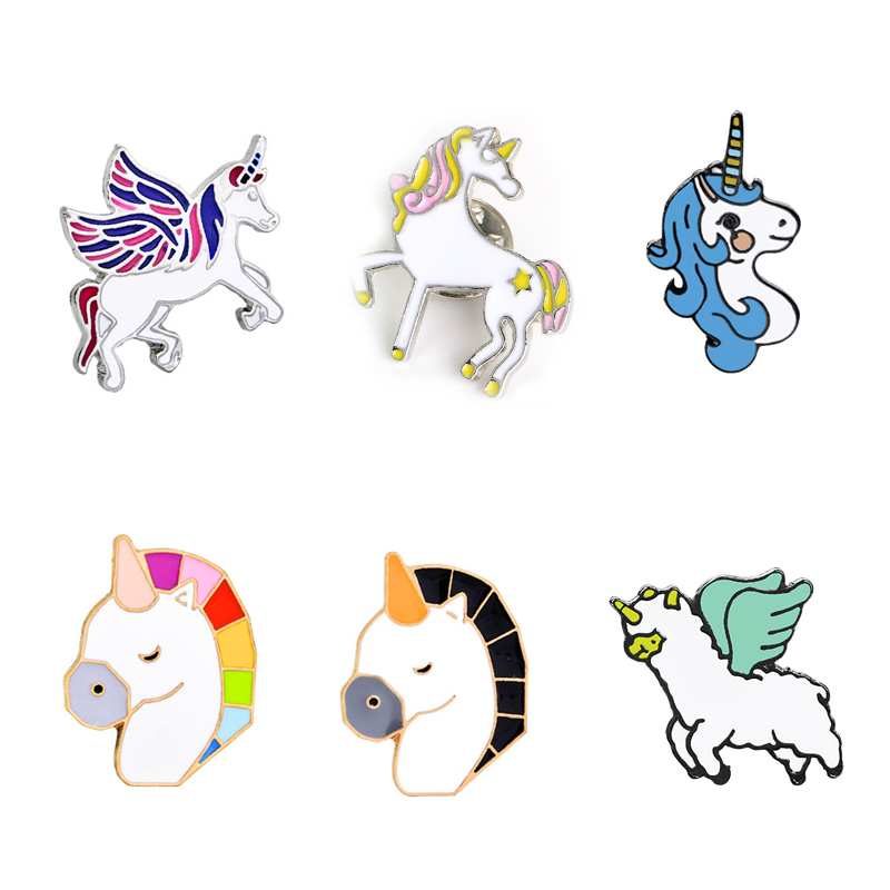 Unicorn Cartoon Brooch New High Quality Cartoon Cute