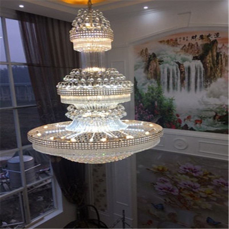 Люстры хрустальные люстры K9 диммируемая Светодиодная лампа с дистанционным управлением класса «Люкс» 110/220 V качество люстра с подвесками к