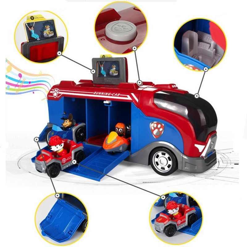 Paw patrol plástico playset observatório brinquedos patrulla canina brinquedos com música figuras de ação juguetes brinquedos crianças crianças brinquedos