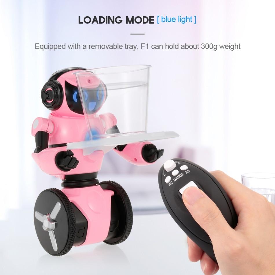 Wltoys rc 로봇 f1 2.4g 전자 스마트 로봇 대화 형 로봇 다목적 현실적인 원격 제어 스마트 완구 선물 용품-에서RC 로봇부터 완구 & 취미 의  그룹 1