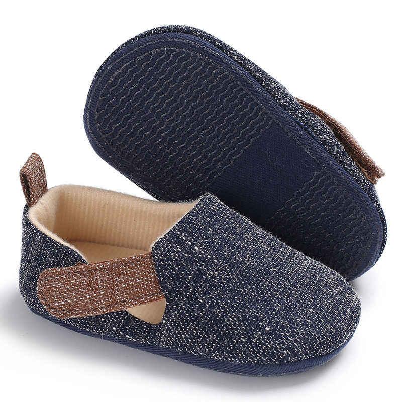 2018 Thương Hiệu New Baby Sơ Sinh Trẻ Sơ Sinh Trai Toddler Mềm Crib Shoes Chống-slip Prewalker Sneakers bé giày dép Đi Bộ Đầu Tiên 0-18 M
