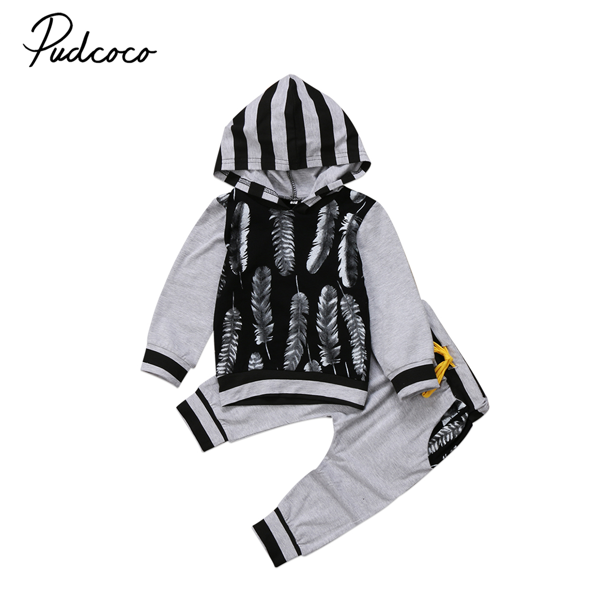 2017 autumn winter new baby clothes set Newborn Kid Baby Boy girls Clothes Sweatshirt Hoodies T shirt+ Pants baby Outfits 1-3Y