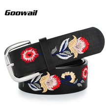 Elegant Ladies Flower Embroidered Belts