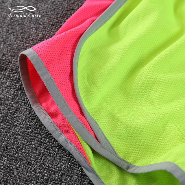 Mermaid Green Fluorescent Curve Women Shorts