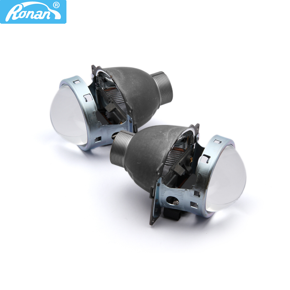 RONAN 2pcs 3.0 Bi-xenon HID H4 Projector Lens for Koito Q5 use xenon bulb D2H Quick Install for Car headlight Free shipping
