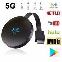 JKING G6 TV Stick 2.4G+5G Video WiFi Display Dongle HD Digital HDMI Media Video Streamer TV Dongle Receiver For Chromecast 2