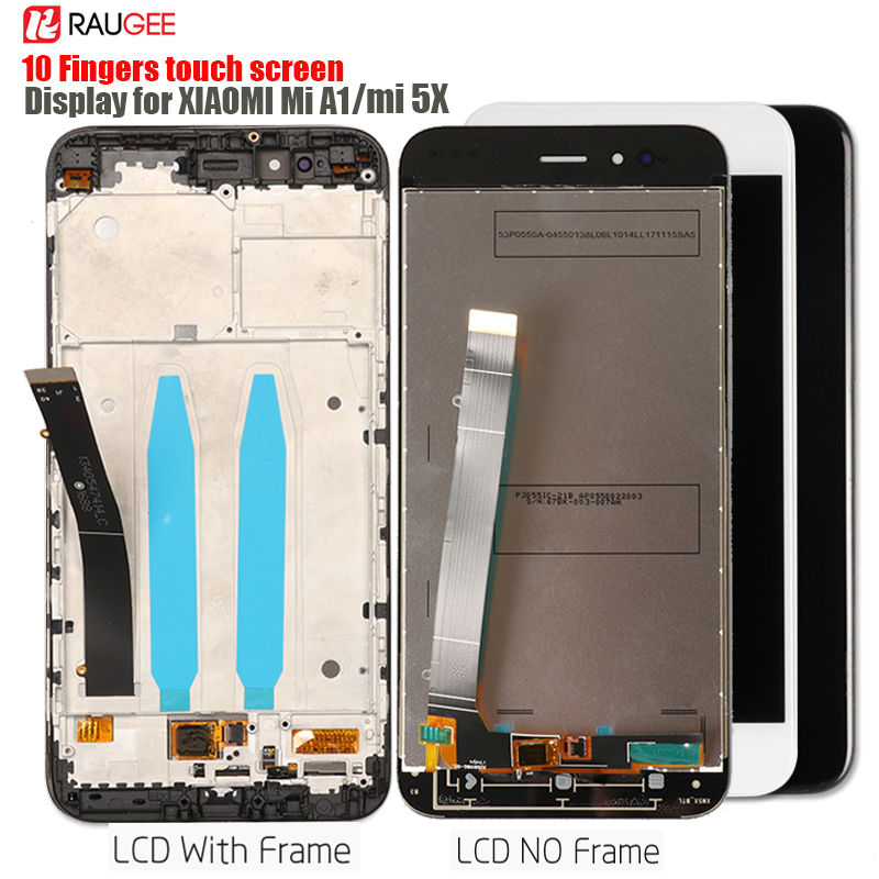 Display For Xiaomi Mi A1 Lcd Display Touch Screen Digitizer Replacement For Xiaomi Mi A1 Screen Tested Lcd Touch Sensor Assembly