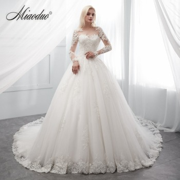 506bb11a9970 Buy online Ivory Wedding Dress long robe de soiree bride Dress trouwjurk  Ball Gown abito da