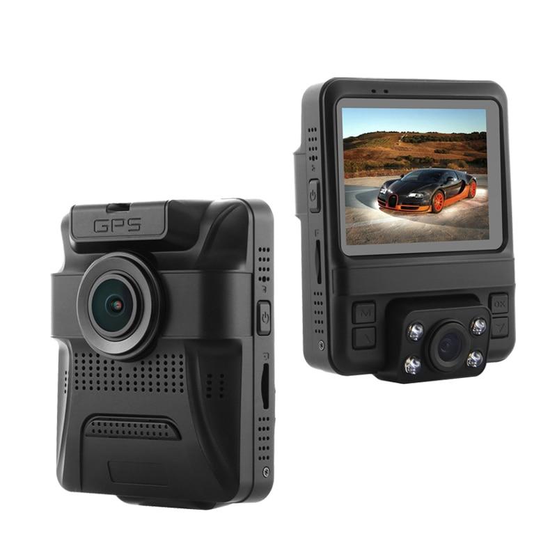GS65H мини двойной объектив Автомобильный видеорегистратор камера 1080P Full HD видеорегистратор Novatek 96655 видеорегистратор G-сенсор ночное видение