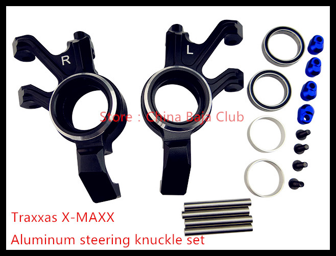Aluminum steering knuckle set for the Traxxas X-maxx 2pcs traxxas original 1 5 x maxx tires wheels tire tyre for 1 5 traxxas x maxx rc monster truck model 7772