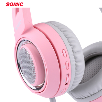 SOMIC G951 Pink Cat Headphones Virtual 7.1 Noise Cancelling Gaming Headphone Vibration LED USB Headset kids Girl Headsets for PC 4