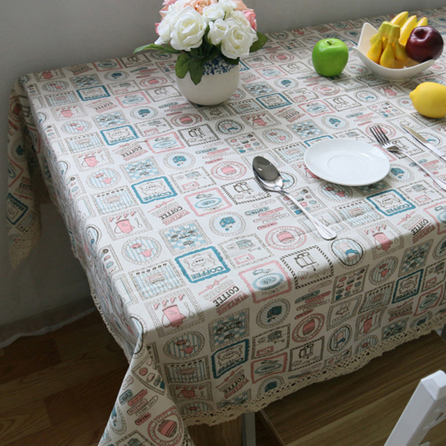 Decorative Tablecloth – Cotton Linen and Lace