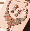 Necklace Earrings Bridal Jewelry Sets Best Gift For Beautiful Bride Flower Crystal Necklace Wedding Accessory