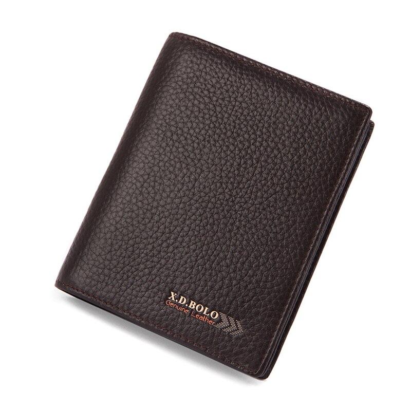 Men Wallet Genuine Leather Male purse Card Coin Holder Wallet Money Clip Short High Quality Business Male Purse Photo Portomonee