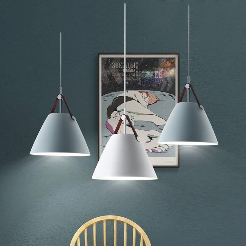 Restaurant pendentif éclairage cuisine pendentif lampe salle à manger lumière LED nordique lumière moderne suspension pour chambre salon - 2