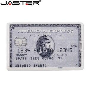 Image 3 - JASTER 신용 카드 USB 플래시 드라이브 4 기가 바이트 8 기가 바이트 16 기가 바이트 32 기가 바이트 64 기가 바이트 금속 USB 2.0 메모리 스틱 펜 드라이브 무료 사용자 정의 로고 레이저 인쇄